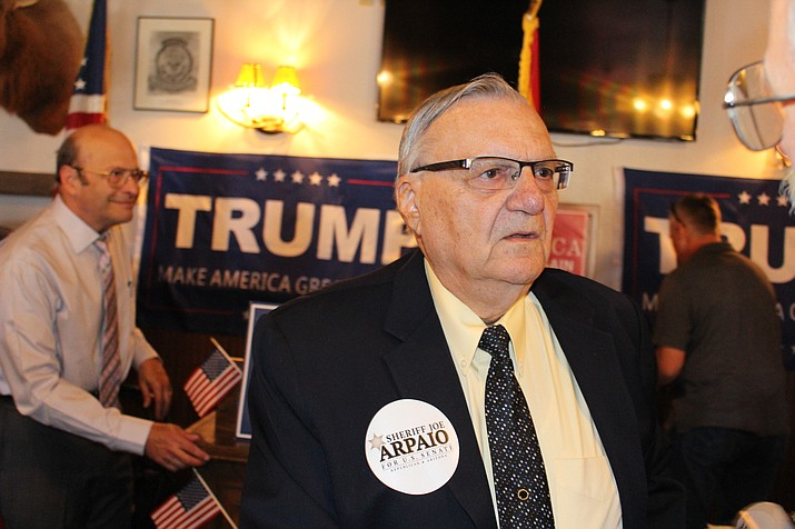 Senate hopeful Joe Arpaio declined at a news conference Tuesday to explain how Trump's earlier plan to impose tariffs on Chinese imports would affect Arizona residents. (File photo)