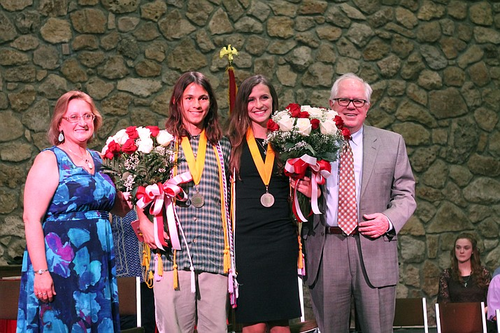 Cale Wisher and Savannah Perkins are named valedictorian and salutatorian of the 2018 class. (Erin Ford/WGCN)