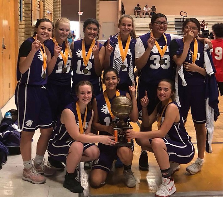 Front row from left, LaNae Burgess, Savannah Jimenez and Becca Ramirez. Back row from left, Lia Lucero, Kaitlin Echeverria, Amya Sellars, Lynsey Day, Tarase Marshall and Taygen Marshall.