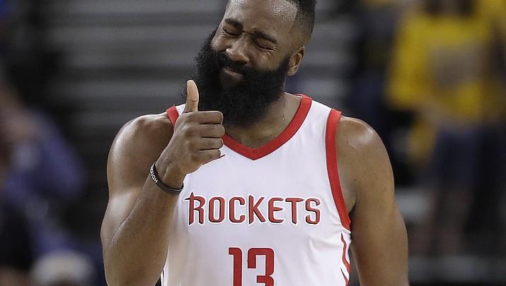 Harden scores 30, Rockets even series at 2 games apiece