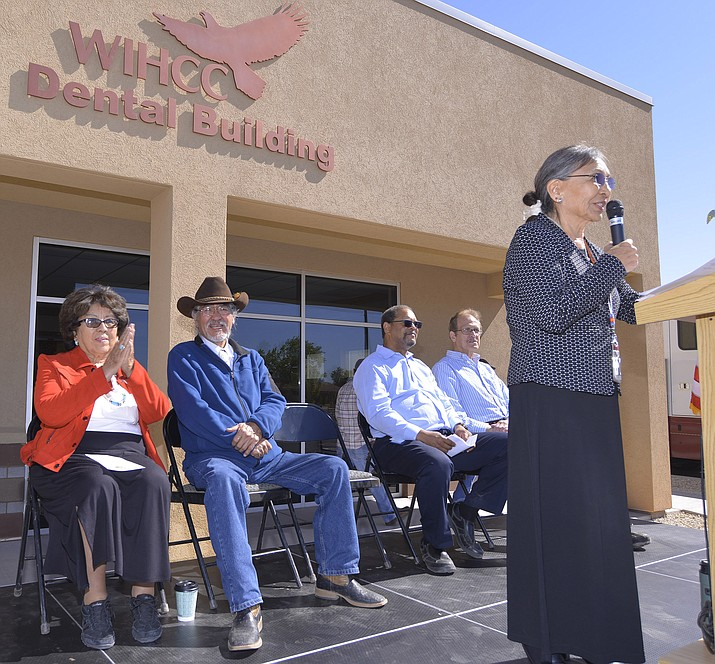 Sally Pete WIHCC CEO welcomes guest to the May 4 grand opening. (Photo/Todd Roth)