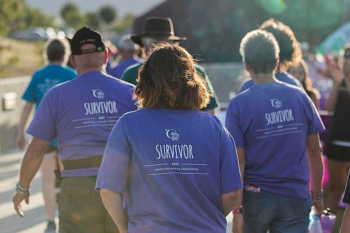 Some of the hundreds of participants in the 2017 annual Relay for Life are pictured. (Photos courtesy American Cancer Society)