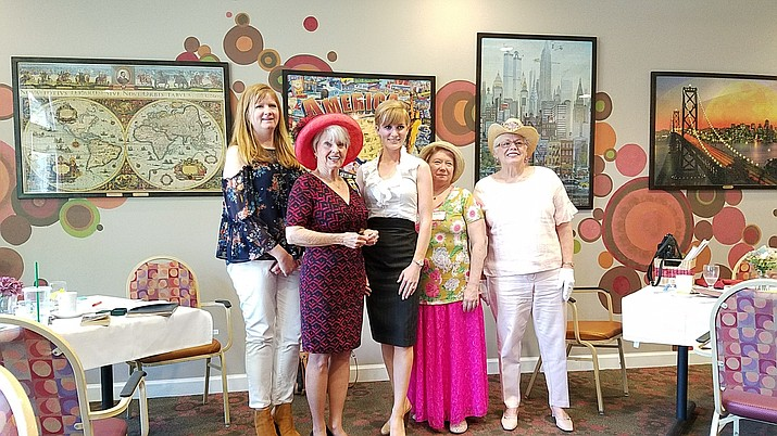 Left to right, Jamie Mullins, vice regent, Sharon Johnson, secretary, Dr. Anne Marie Ward, regent, Kerry Lynn Cordier, historian and Sue Lutz, librarian.