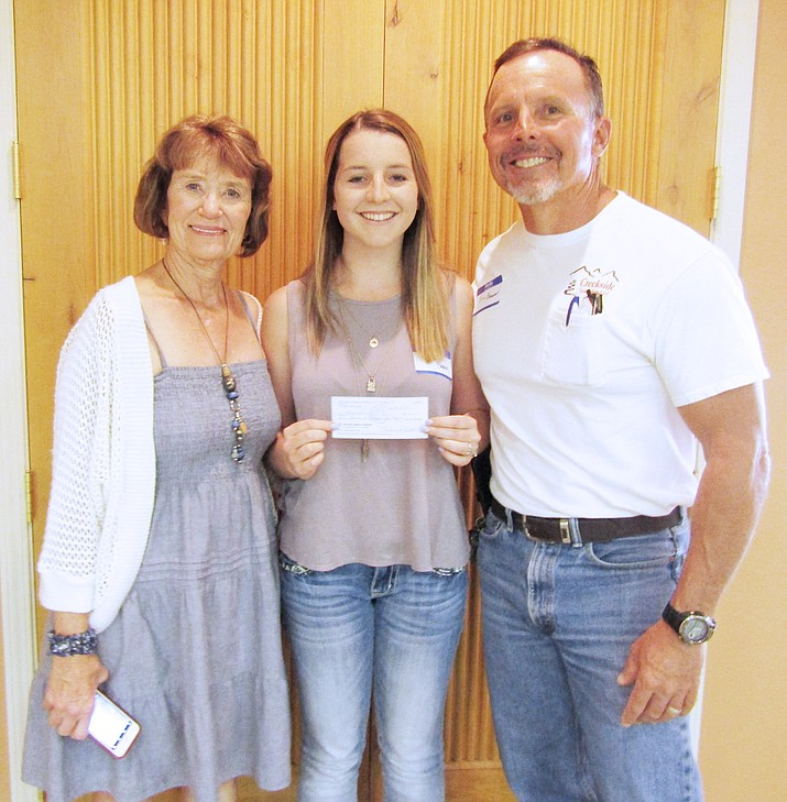 At its May 8 meeting, the Lake Montezuma Women's Civic Club (LMWCC) awarded its 2018 scholarship of $1,000 to Camp Verde High School senior Kayla Madison Brann.