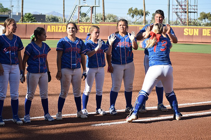 Five Camp Verde softball players made first team All-Central Region, three were on the second team and one was honorable mention. (VVN/James Kelley)