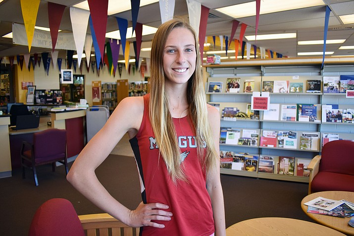 In track and field, Mingus senior Hannah DeVore finished first in the state in the 100 meter hurdles, second in the 300 meter hurdles and third in the 4x400 relay. (VVN/Halie Chavez)