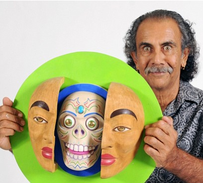 Zarco Guerrero's exhibition -- Caras y Mascaras, Faces and Masks -- opens with a reception from 5 to 7:30 p.m. Friday, May 25, 2018, at Yavapai College Art Gallery, 1100 E. Sheldon St., Prescott, and runs through Friday, June 29.