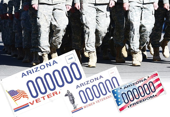 "Veteran plates aren't the only specialty plates that cost $25 – they all do, and $17 goes to whatever cause is represented by the plate. Non-veterans who want to help can get a ""Freedom"" plate. The proceeds also go to help veterans. (Courtesy)"