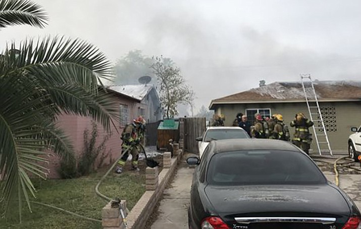 Officials say 80 messenger pigeons were killed in a fire at a Phoenix home near the area of 57th Avenue and Camelback Road Saturday. About 150 pigeons total were at the residence. One of the homeowners is a messenger bird association member. (Phoenix Fire Department)