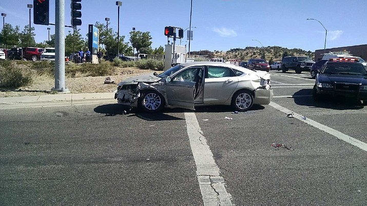 The driver of this 2015 Chevy Sedan, 91-year-old David Branch, later succumbed to his injuries at the Yavapai Regional Medical Center and died Tuesday, May 29. (Prescott Police Department/Courtesy)
