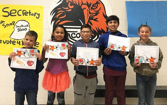 Camryn Ford, Kailee Davis, Alex Beltran, Mario Pedraza and Reina Rocha are the May Students of the Month at Williams Elementary-Middle School. (Submitted photo)