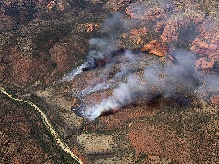 According to National Wildfire Coordinating Group, 230 acres have been burned as of Tuesday morning. The fire was initially reported by a member of the public and Turkey Butte Lookout on Monday. (Coconino National Forest)
