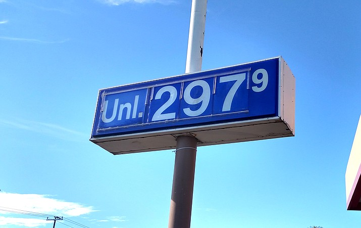 While Arizona's statewide average for a gallon of unleaded gasoline currently stands at $3.08, the Cottonwood Circle K Tuesday morning was selling gasoline for as low as $2.97 a gallon. VVN/Dan Engler
