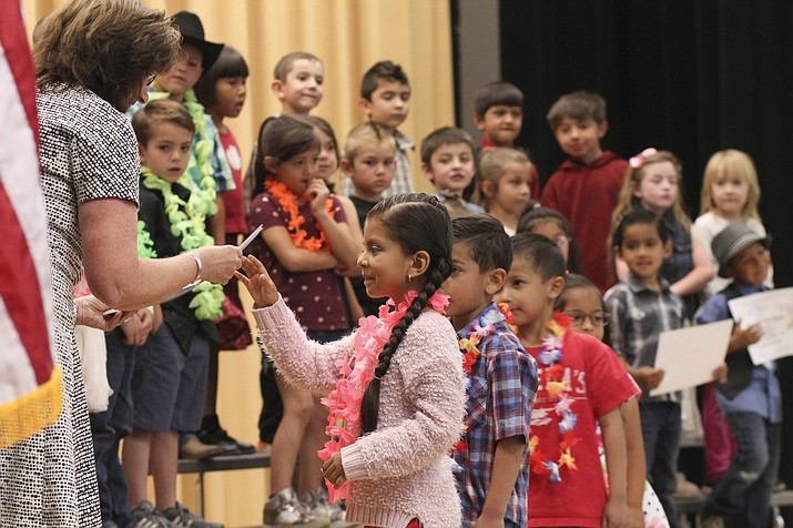 Kindergarteners at Williams Elementary School receive their promotion to First grade at a special ceremony May 23. (Loretta Yerian/WGCN)