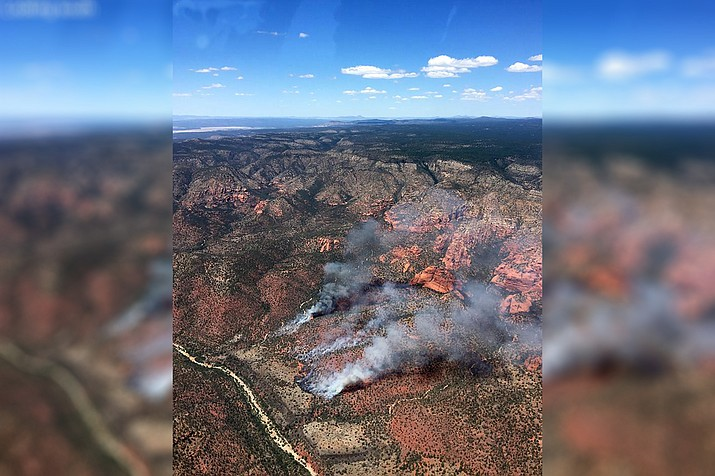 The human-caused Sycamore Fire has burned 75-acres northeast of Sedona.