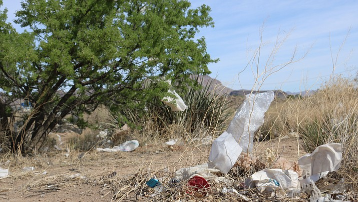 Cleanup efforts help keep littered areas from taking over the community. (Photo by Travis Rains/Daily Miner)