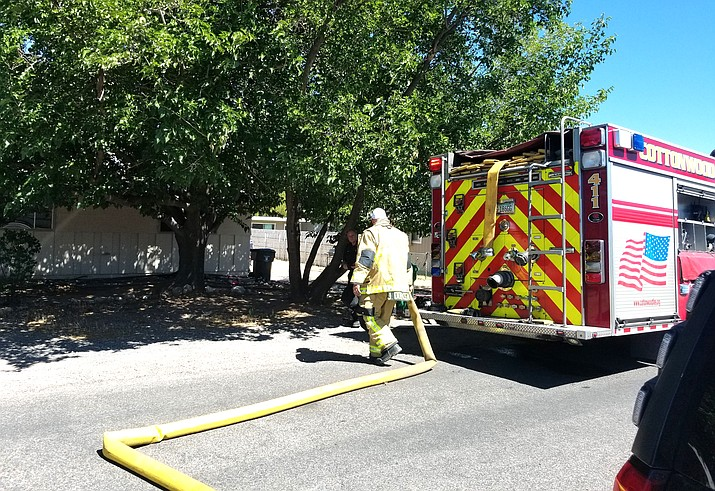 Cottonwood Fire and Medical Department responded to a report of a structure fire in the 1100 block of East Mingus Avenue Thursday afternoon. Investigation indicates that the fire cause was accidental. Photo courtesy of Cottonwood Fire & Medical Department