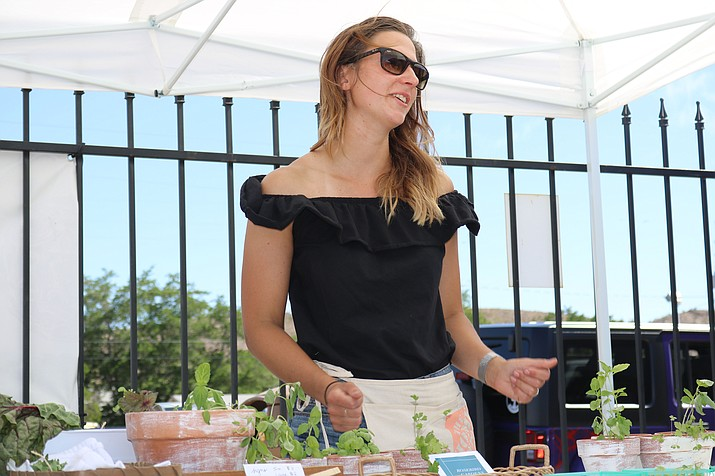 Andrea McAdow, owner of Rosebird Gardens, says anyone can start growing their own produce, and that it's OK to start small. (Photos by Travis Rains/Daily Miner)