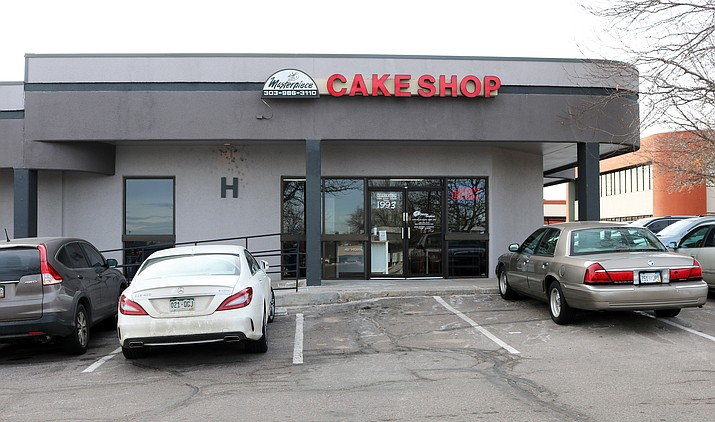 Masterpiece Cakeshop, located at 3355 South Wadsworth Boulevard, number H-117, in Lakewood, Colorado. The shop is one of the parties in the Masterpiece Cakeshop v. Colorado Civil Rights Commission Supreme Court case. (By Jeffrey Beall [CC BY 4.0 (https://creativecommons.org/licenses/by/4.0)], from Wikimedia Commons)