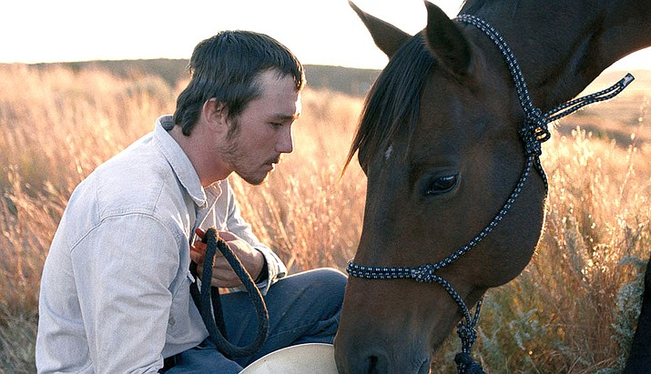 In The Rider, Brady Blackburn suffers a devastating head injury after he was thrown from his horse in the rodeo and he has been told by doctors that he should never ride a bronco again. Any mishap would have dire consequences. That is the true story about Brady Jandreau, who plays the role of Brady Blackburn.