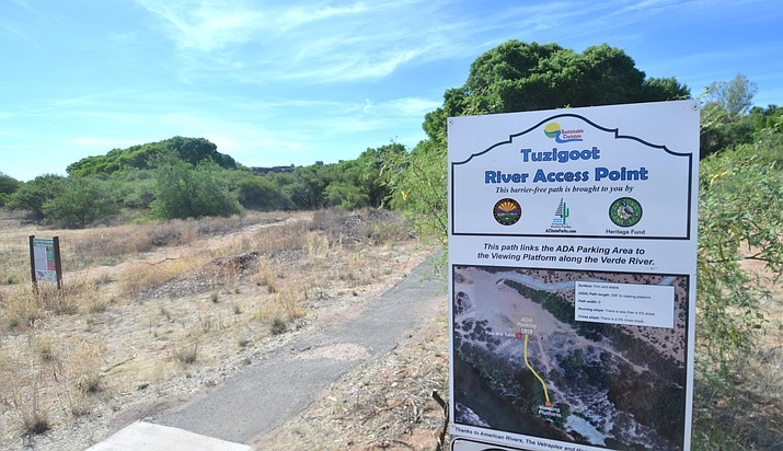 Monday, June 4, 2018 a swimmer at the Tuzigoot River Access Point found a human skull in the Verde River. (Vyto Starinskas, Verde Independent)