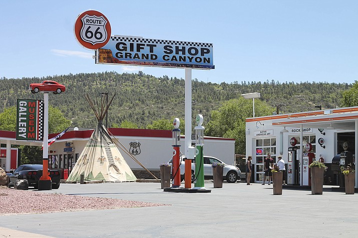 Route 66 Gift Shop Grand Canyon opened May 5 at the west entrance to Williams. The gift shop features unique items for locals along with gifts and souvenirs for tourists. (Loretta Yerian/WGCN)