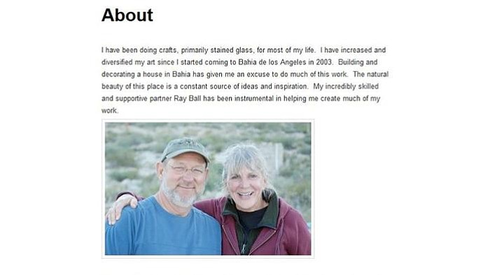 Jo Ann Butler and Ray Ball are pictured together in this section of her blog describing their lives in Bahia de los Angeles. (Mccutchen, John R.)