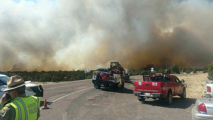 Navajo County Sheriff's officials say the fire was caused due to someone dragging a tailgate from a trailer. (Navajo County Sheriff's Office)