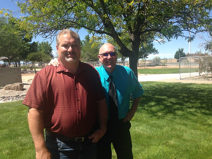 Town Engineer Frank Marbury, left, and Community Services Director Scott Bruner are overseeing the Memory Park expansion for safety reasons and for more useable in the community. (Diane DeHamer/Courtesy)