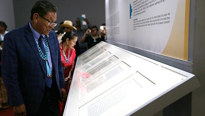 Navajo Treaty of 1868 arrives in Window Rock
