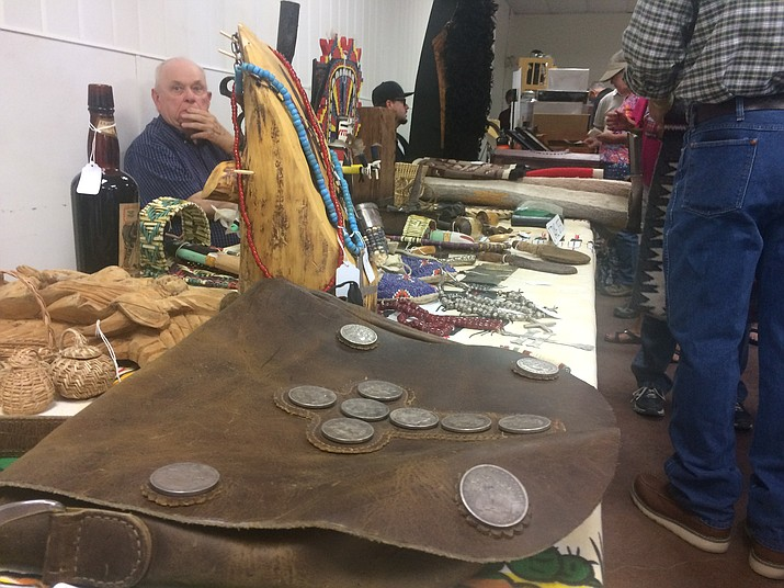 Some Western and Native American items for sale by Richard Straub of Prescott at the 2018 Prescott Antique Show and Vintage Market. This year's event is Sunday, June 2, at the Prescott Rodeo Grounds, 840 Rodeo Drive. (Jason Wheeler/Courier, file)