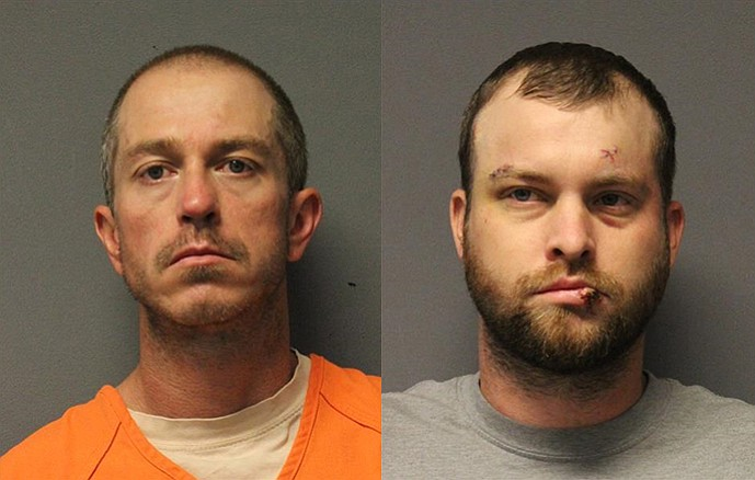 Adam Alan Brock (left) and Matthew McClain Goff are facing several charges for allegedly breaking into a home and attempting to steal a number of valuable items on Sunday, June 3.