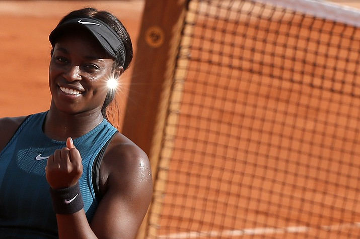 Sloane Stephens of the U.S. clenches her fist after defeating compatriot Madison Keys during in semifinal match of the French Open tennis tournament at the Roland Garros stadium, Thursday, June 7, 2018 in Paris. (Michel Euler/AP)