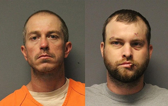 Adam Alan Brock (left) and Matthew McClain Goff are facing several charges for allegedly breaking into a home and attempting to steal a number of valuable items on Sunday, June 3. Yavapai County Sheriff's Office/Courtesy