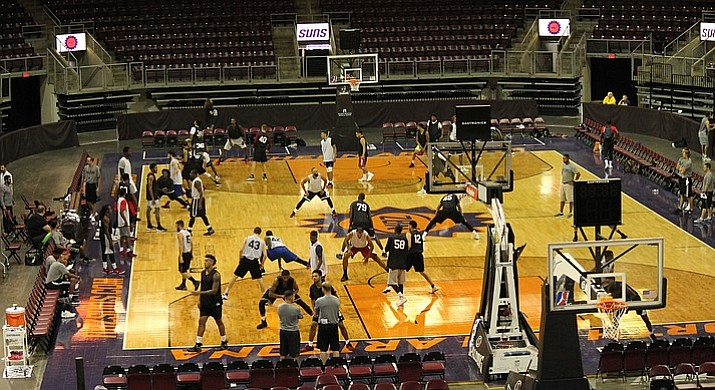 This file photo shows a view from the second deck at the Prescott Valley Event Center. Registration is now open for the second annual AZ Suns Basketball Camp set for July 27 at the event center. Children aged 7-to-17 years old are invited to participate in the one-day camp presented by Yavapai Regional Medical Center. To register, visit www.nazsuns.com/kidscamp.