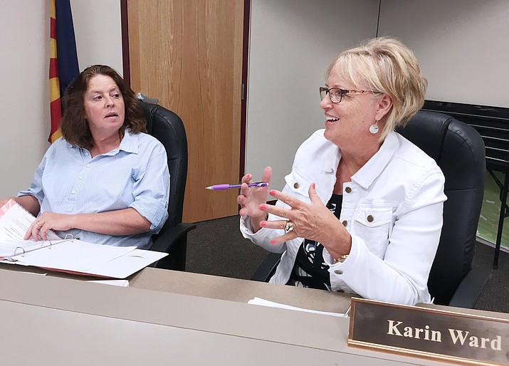 Monday, Beaver Creek School District Superintendent Karin Ward, pictured, and members of the district's governing board are expected to schedule a public hearing and request for adoption of the fiscal year 2018-2019 budget for Monday, July 9. (VVN/Bill Helm)