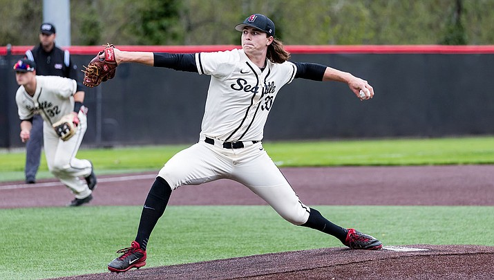 Tarik Skubal will become a member of the Detroit Tigers organization later this month. The Kingman Academy graduate played three seasons at Seattle University. (Photo courtesy of Mike Centioli)