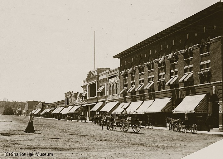 The rebuilt downtown of Prescott in 1903 after the devastating fire of July 1900 that almost wiped out Whiskey Row.