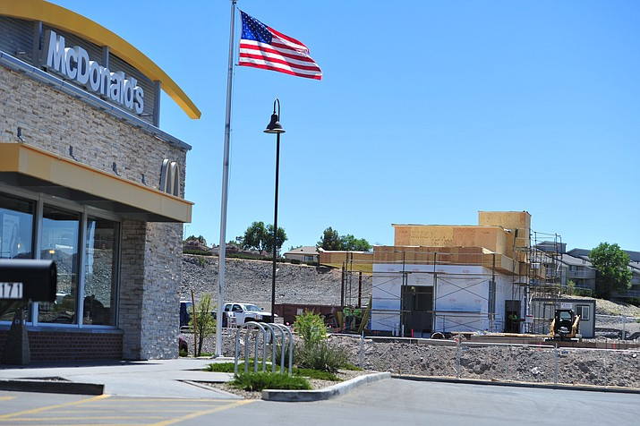 A new Dutch Brothers Coffee currently under construction near the intersection of Willow Creek and Willow Lake Roads in Prescott Thursday, June 7, 2018. (Les Stukenberg/Courier)