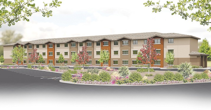 Pictured is a rendering of proposed Brook Apartments in Chino Valley. Chino Valley residents adjacent to the project oppose the density of 192 units. (Jason Sanks/Courtesy)