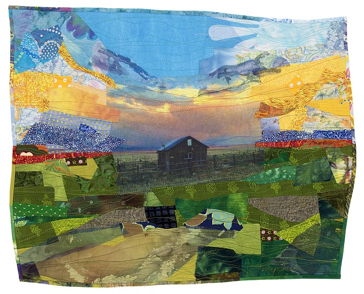A colorful, stitched fabric recreation of Kane Ranch by Darcy Falk. (Photo/Grand Canyon Trust)