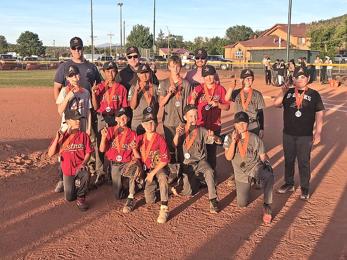 The Williams Astros include: Ryan Fowler, Mikey Cavaletto, Jace Maebe, Gabe Lowe, JP Echeverria, Cody Payne, Mario Pedraza, Jack Dent, Braylon Miller, Joseph Captain, Quintin Ford and Isaiah. Coaches are Lee Payne and Jeff Dent. (Submitted photo)