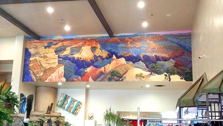Grand Canyon panorama mural  recently completed at Canyon Plaza hotel