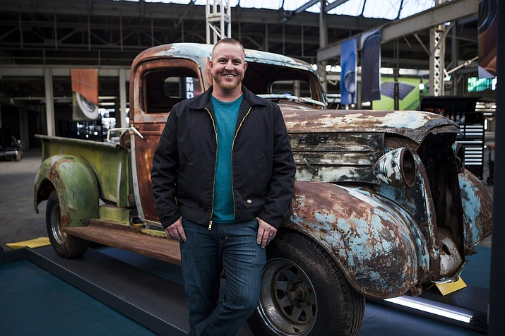 "Tim Johnson and his 1937 Chevy truck appeared on the June 6 episode of ""Sticker Shock."" The truck has significant history in Williams. (Discovery Channel)"