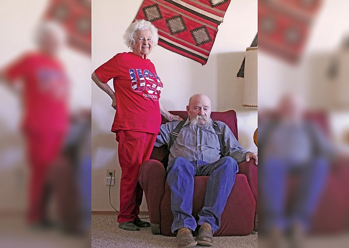 Founding members of the rodeo, Lucy and Jim Kreutzer of Ash Fork, Arizona will be honored during the rodeo June 16. (Loretta Yerian/WGCN)