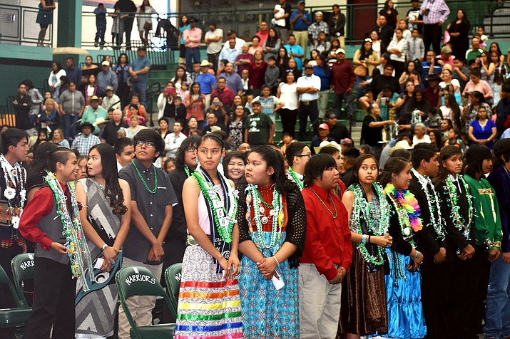 Tuba City Junior High School held its annual graduation May 25 at the High Warrior Pavilion in Tuba City. (Rosanda Suetopka Thayer/NHO)