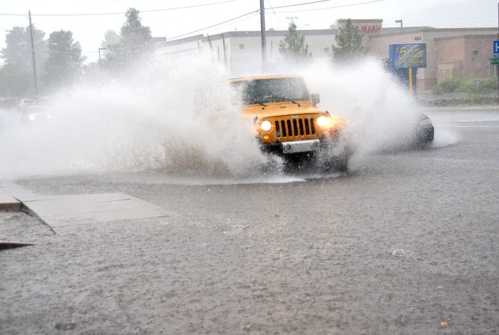 The monsoons are the most dangerous time of the year for weather in the Southwest, the National Weather Service said. Monsoon season can also make for dangerous driving conditions. The Arizona Department of Transportation advises drivers to inspect their vehicles before driving and avoid sudden breaking on wet pavement. (Courtesy)