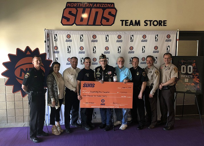 The NAZ Suns donated $7,520 to law enforcement agencies, first responders and veterans.