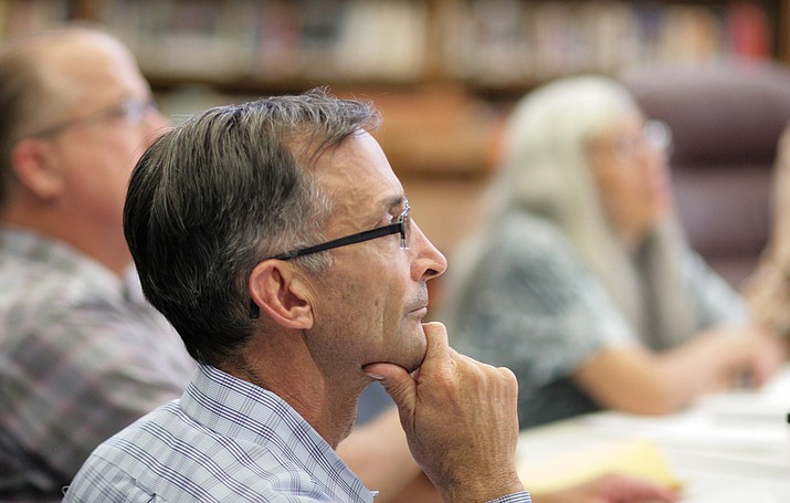 The Camp Verde Unified School District governing board voted 5-to-0 to approve a preliminary – proposed – budget for fiscal year 2018-2019. Pictured, Tim Roth, the district's board president. (VVN/Bill Helm)