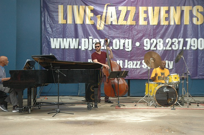 The Billy McCoy Trio performing at the Juneteenth Jazz Splash at Arcosanti Saturday, June 16. The event continues Sunday, June 17. (Jason Wheeler/Courier)